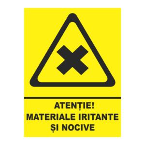 indicator materiale iritante si nocive