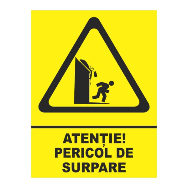 indicator atentie pericol de surpare