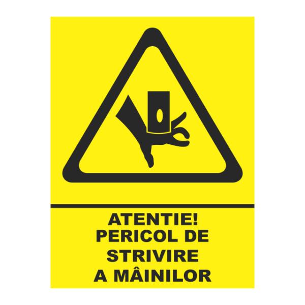 indicator pericol de strivire a mainilor
