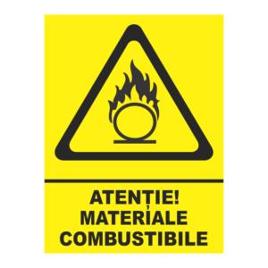 indicator atentie materiale combustibile