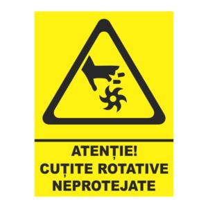 indicator cutite rotative neprotejate