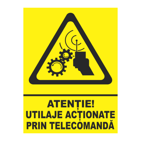 indicator utilaje actionate prin telecomanda