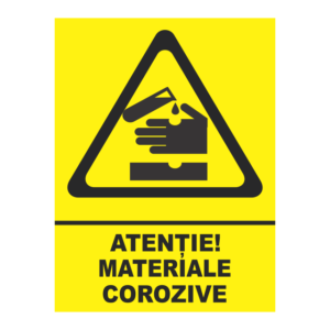 indicator materiale corozive
