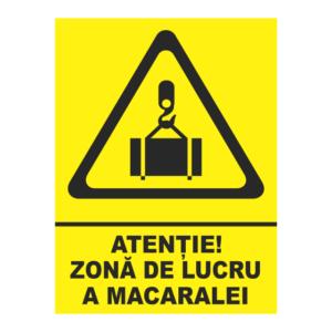 indicator zona de lucru a macaralei