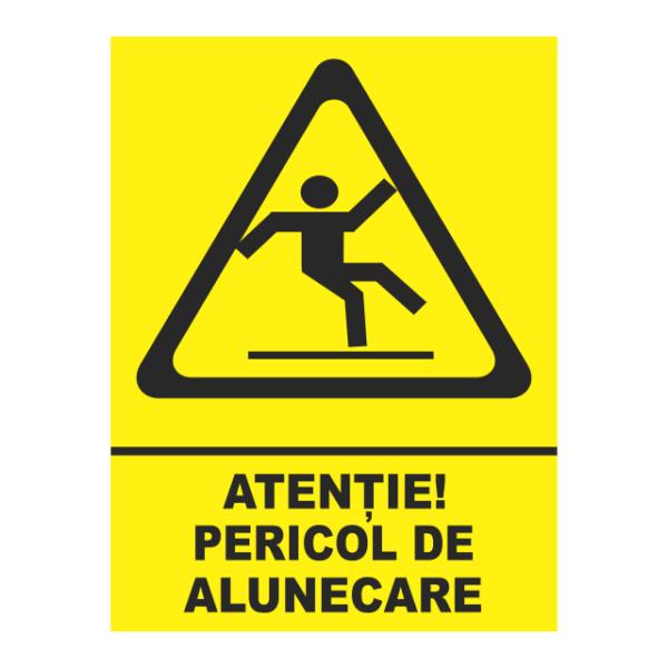 indicator pericol de alunecare