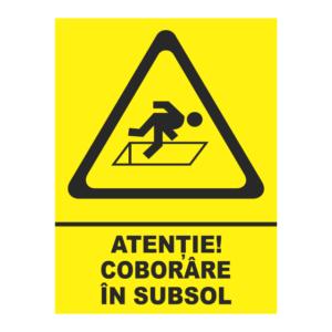 indicator coborare in subsol