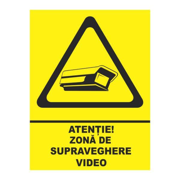indicator zona de supraveghere video