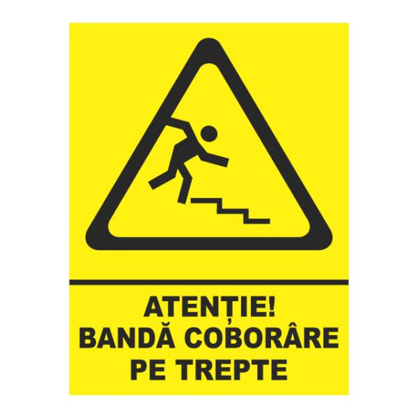 indicator banda coborare pe trepte