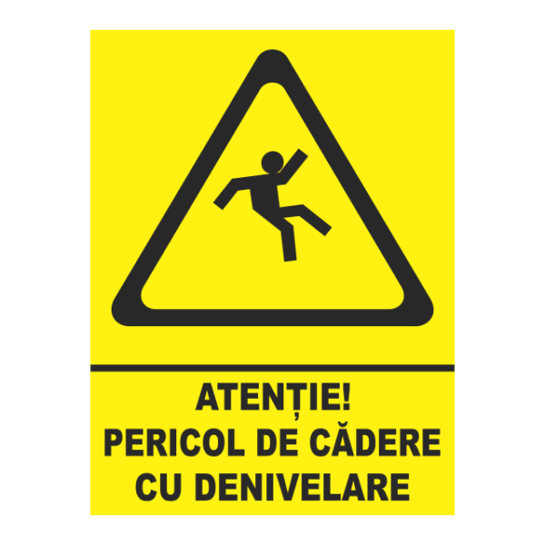 indicator pericol de cadere cu denivelare