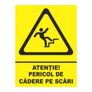 indicator pericol de cadere pe scari