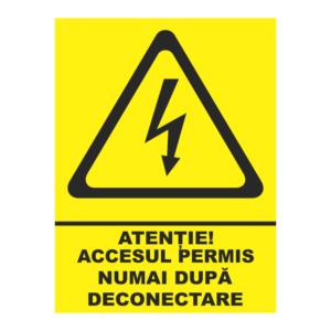 indicator acces permis dupa deconectare