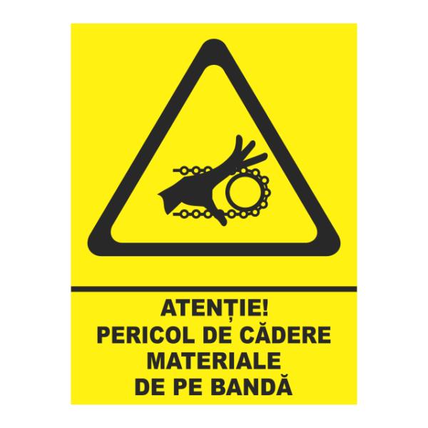 indicator pericol de cadere materiale