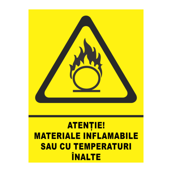 indicator materiale inflamabile