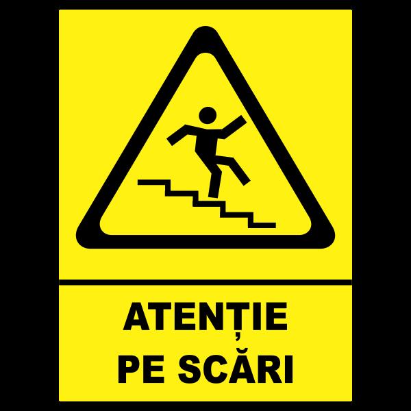indicator atentie pe scari