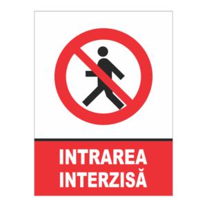 indicator intrarea interzisa