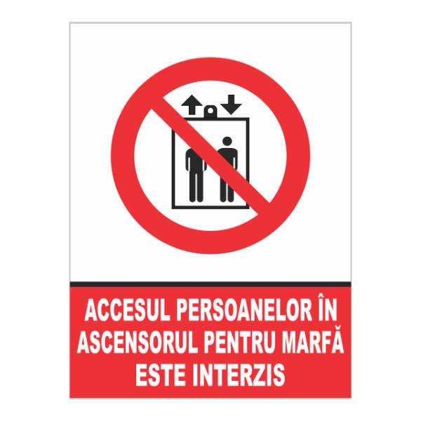 indicator accesul persoanelor este interis