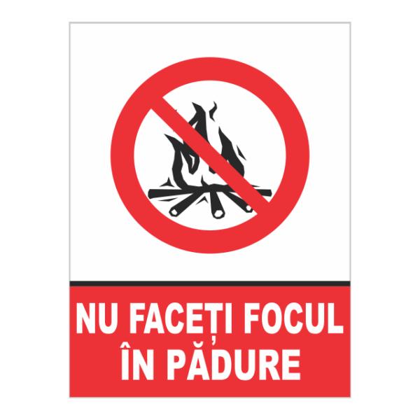 indicator nu faceti focul