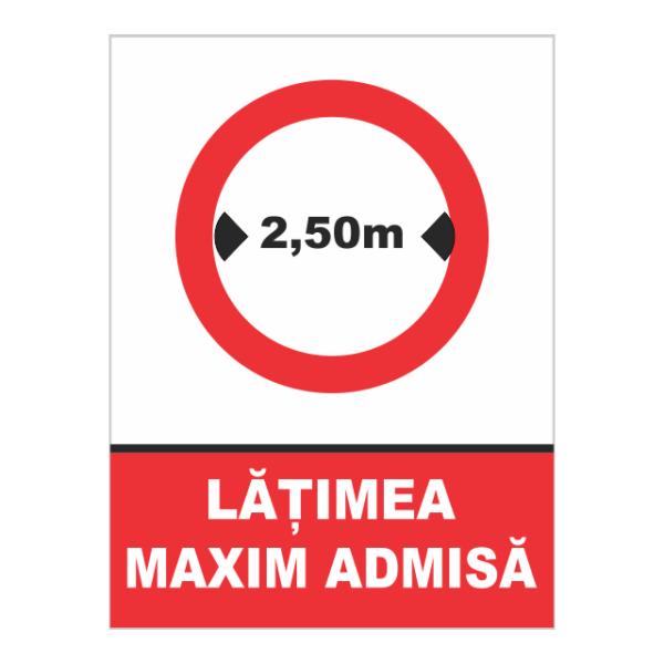 indicator latime maxima