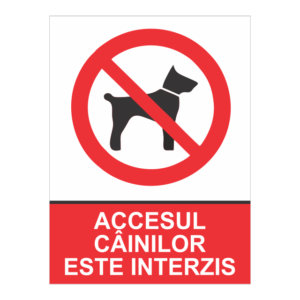 indicator acesul cainilor este interzis