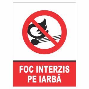 indicator foc interzis iarba