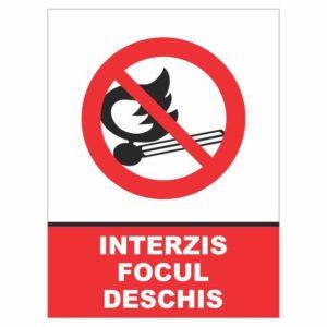 indicator interzis focul deschis