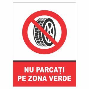 indicator nu parcati pe zona verde