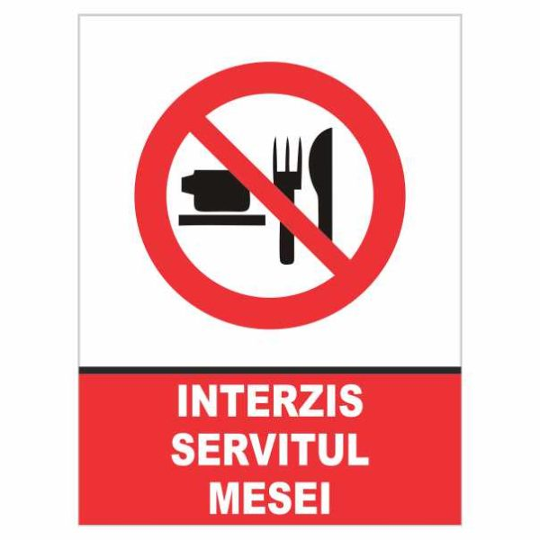 indicator interzis servitul mesei