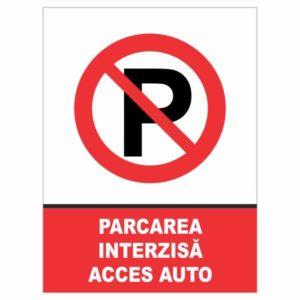 indicator parcare interzisa