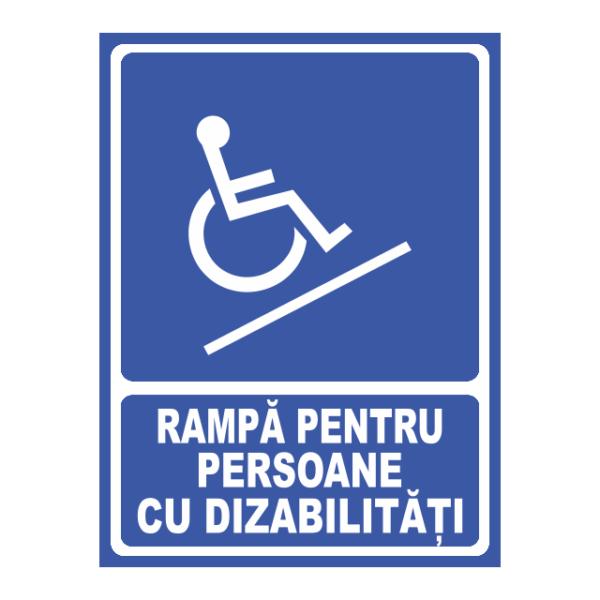 indicator rampa persoane dizabilitati