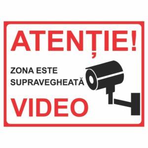 indicator atentie zona supravegheata video