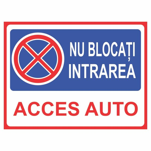 indicator nu bloca acces auto