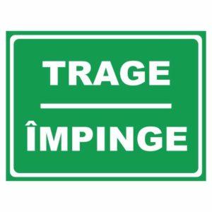 indicator trage impinge