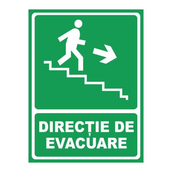 indicator directie de evacuare