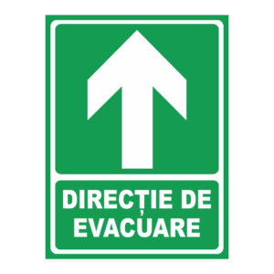 indicator directie evacuare