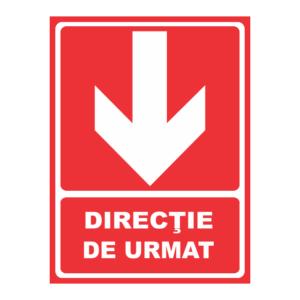indicator directie de urmat