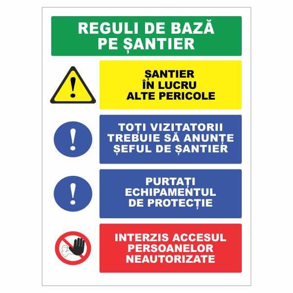 indicator reguli de baza pe santier