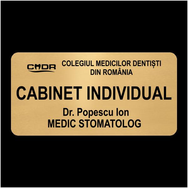 placuta persoalizata cabinet stomatologi