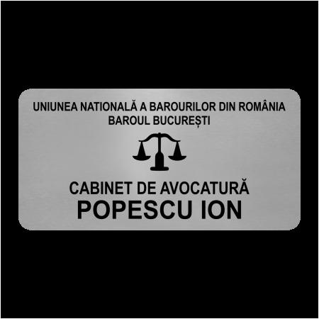placuta personalizata cabinet avocatura