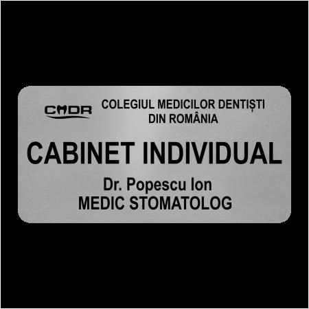 placuta personalizata cabinet stomatologie