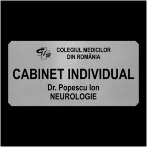 placuta personalizata cabinet medical
