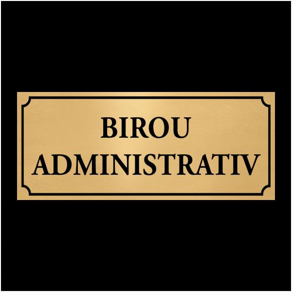 placuta birou administrativ
