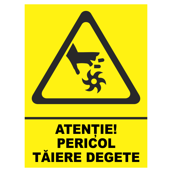 indicator pericol taiere degete