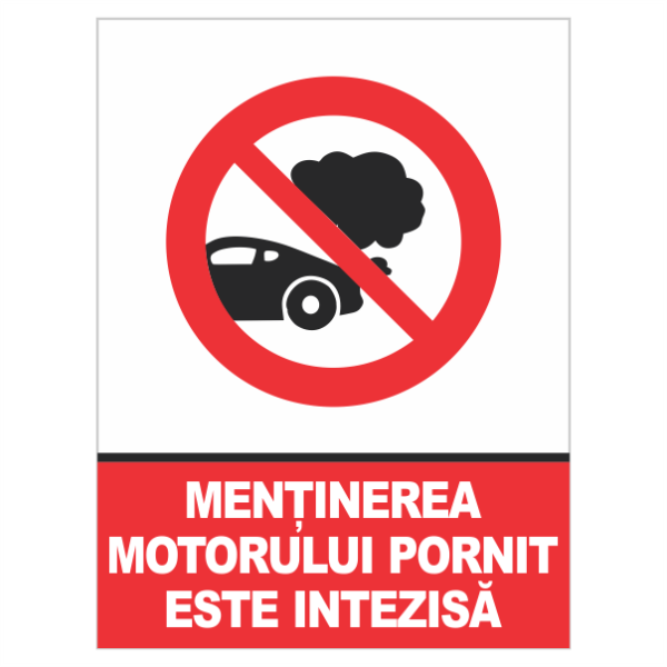 indicator mentinerea motorului pornit este interzisa