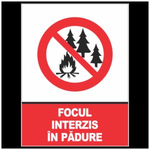 indicator focul interzis in padure