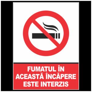 indicator fumatul in acasta incapere este interzis